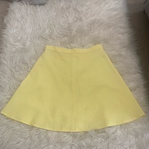 LUCCA Couture Yellow High Waist Skater Skirt Small